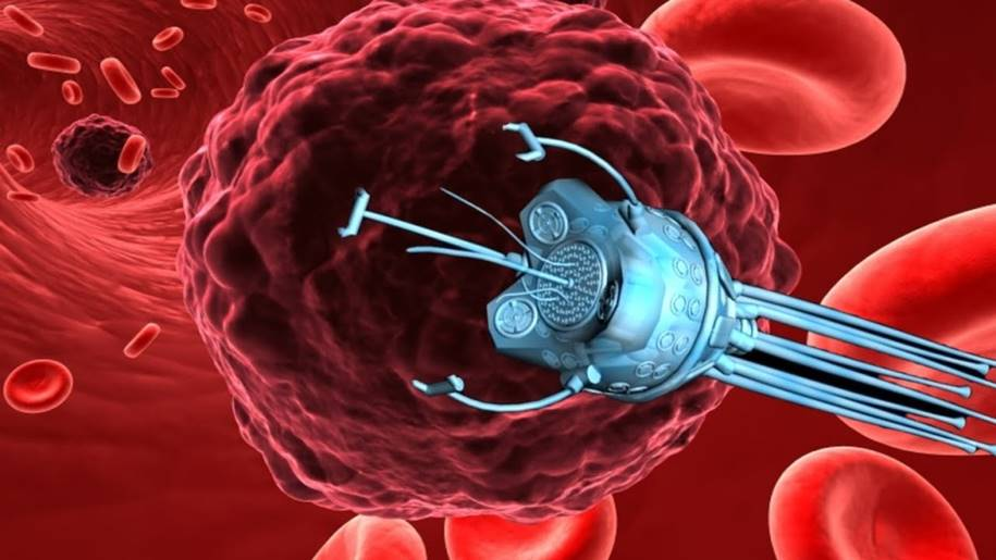 Microbots magneticamente controlados para administrar medicamentos no local do cancer